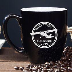 Aviator Personalized Pilot Coffee Mug