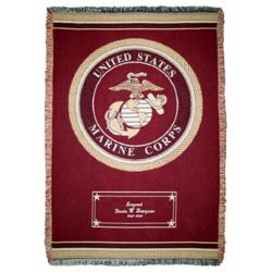 Personalized Marine Throw