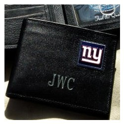 Personalized Black Leather New York Giants Wallet