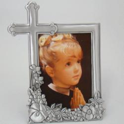 Personalized Pewter Cross Frame