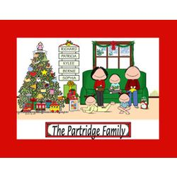 Personalized Christmas Family Cartoon