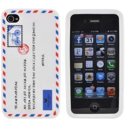 iPhone 4 White Mail Envelope Silicone Case