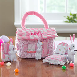 Personalized Easter Bunny Cottage Playset