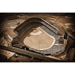 New York Yankees Historic Old Yankee Stadium Aerial Mural