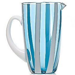 Gessato Blown Glass Pitcher
