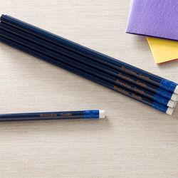 Personalized Blue Pencil Set