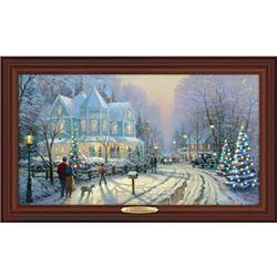 Thomas Kinkade A Holiday Gathering Canvas Print