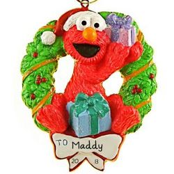 Personalized Elmo Wreath Ornament