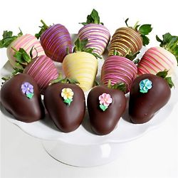 Springtime Chocolate Covered Berries