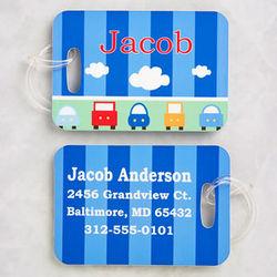 Boy's Transportation Personalized Luggage Tag Set