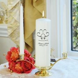 Whimsical Hearts Personalized Unity Candle Set