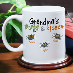 Bugs and Kisses Personalized Halloween Coffee Mug