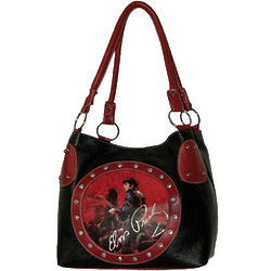 Elvis Presley Signature Black and Red Handbag