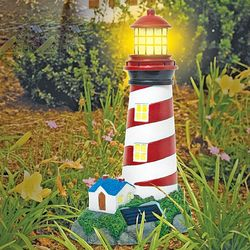Solar Lighthouse Garden Statue