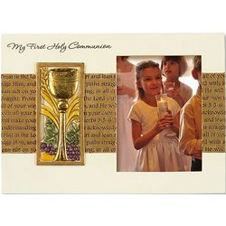 My First Holy Communion Gold and White Photo Frame