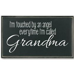 Touched by an Angel Grandma Plaque