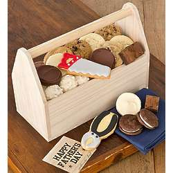Cookies and Treats Wooden Tool Box Gift Basket