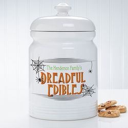 Tricks and Treats Personalized Cookie Jar