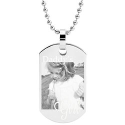Daddy's Girl Photo Dog Tag Stainless Steel Pendant