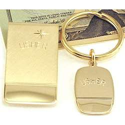 Engravable Usher Money Clip & Key Ring