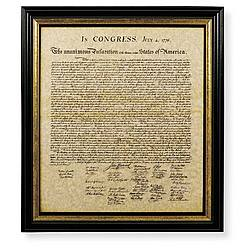 The Declaration of Independence Framed Reproduction