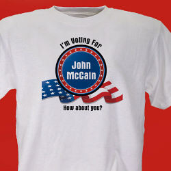 Who Are You Voting For Election Personalized T-Shirt