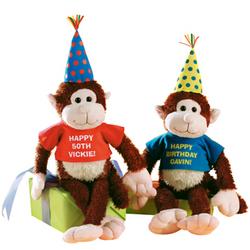 Personalized Birthday Monkey