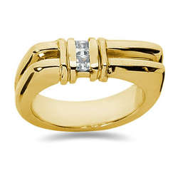 0.20 ctw Men's Diamond Ring in 14K Yellow Gold