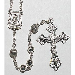All Sterling Silver Rosary - 6mm