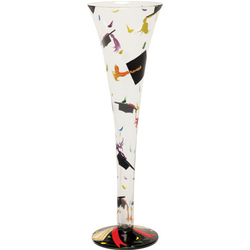 Graduation Hand-Painted Champagne Flute