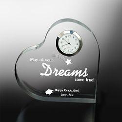 Dreams Come True Graduation Heart Clock