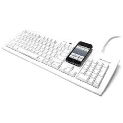 Keyboard with Smartphone Stand and USB Hubs