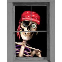Peppy the Pirate Window Poster