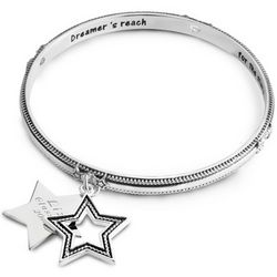 Expressions Star Rope Bangle Bracelet