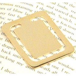 Personalized Gold Plated Rectangular Bookmark