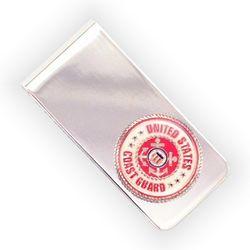 Engraved Coast Guard Money Clip
