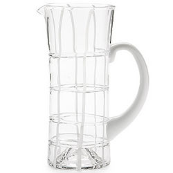 Twiddle White Glass Pitcher