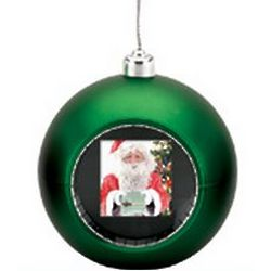 Digital Photo Display Green Christmas Ornament