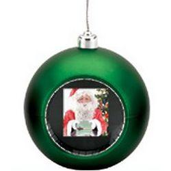 Digital Photo Display Green Christmas Ornament