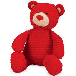 Red Corduroy Hugs and Kisses Bear