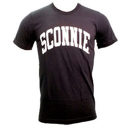 Sconnie Nation Black and White T-Shirt