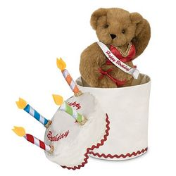 Birthday Cake Hottie Teddy Bear Gift Set