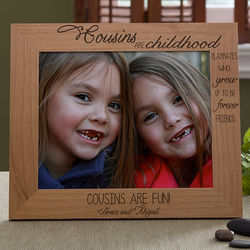 Personalized 8x10 Picture Frame for Cousins