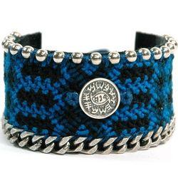 Against Evil Eye Wide Weaved Leather Bracelet
