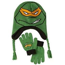 Ninja Turtles Knit Hat & Gloves Set