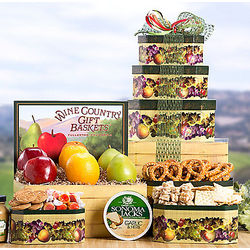 Fruit and Gourmet Snacks Tower