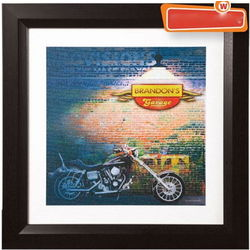 Personalized Motorcylce Garage Print