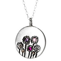 Sterling Silver Dandelion Necklace