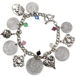 Polish Coins Charm Bracelet