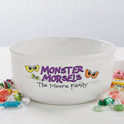 Tricks and Treats Personalized Serving Bowl